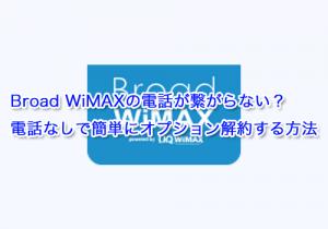 Broad WiMAXの電話が繋がらない?電話なしでオプション解約する方法